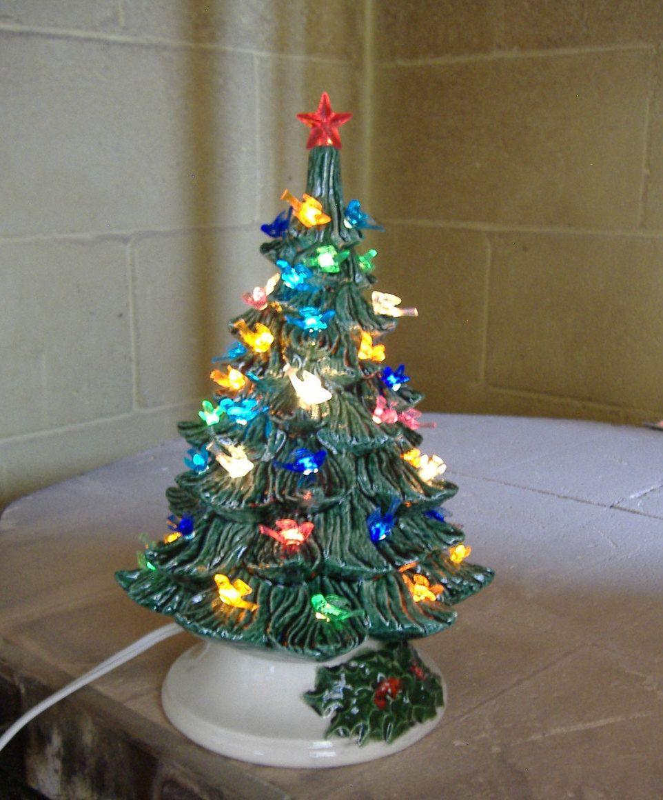Ceramic Christmas Tree Lighted Christmas Decoration Centerpiece