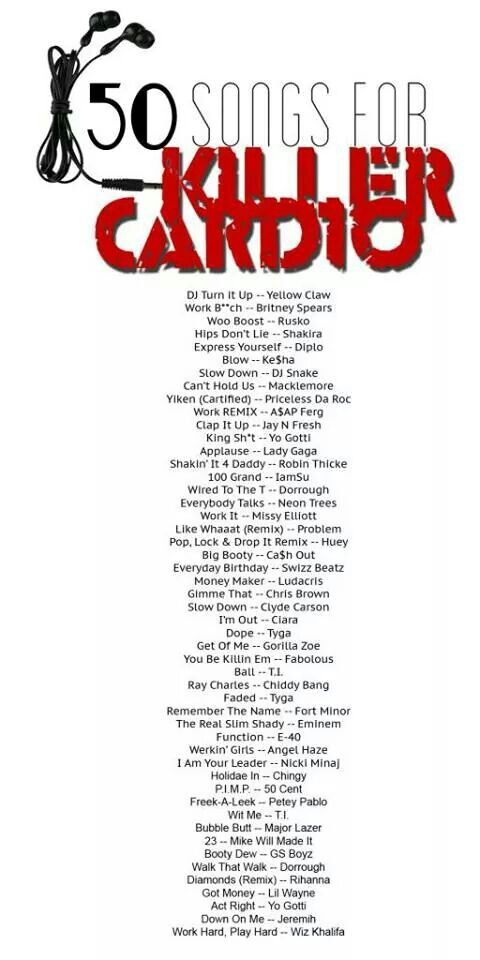 50 Cardio Songs I Personally Like Rock And Rap Old
