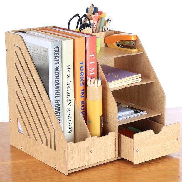 dossier a4 papier bureau fournitures de bureau bo te de rangement en bois syst me documentation. Black Bedroom Furniture Sets. Home Design Ideas
