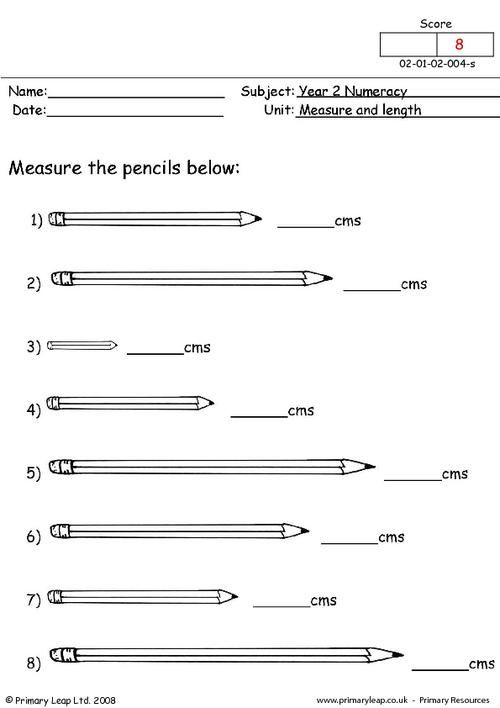 Measure And Length Worksheet Measurement Worksheets Measurement Activities Math Measurement