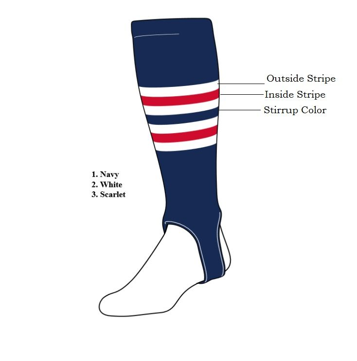 Custom Stirrups Pearsox Custom Stirrup Socks Style 7 Chose Your Colors And Stripes These Socks Are Made To Ord Fashion Socks Socks Custom Knee High Socks