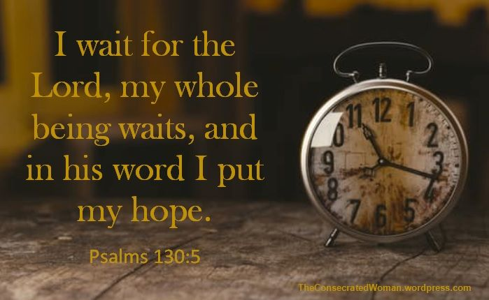 Verse of the Day: Psalms 130:5 I wait for the Lord, my whole being waits, and in his word I put my hope. I wait for the Lord; I wait for his answers to my prayers, for his guidance, for hi…