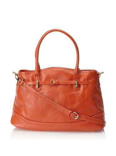 60% OFF Zenith Women\'s Large Double Handle Tote with Cross-Body Strap (Orange)