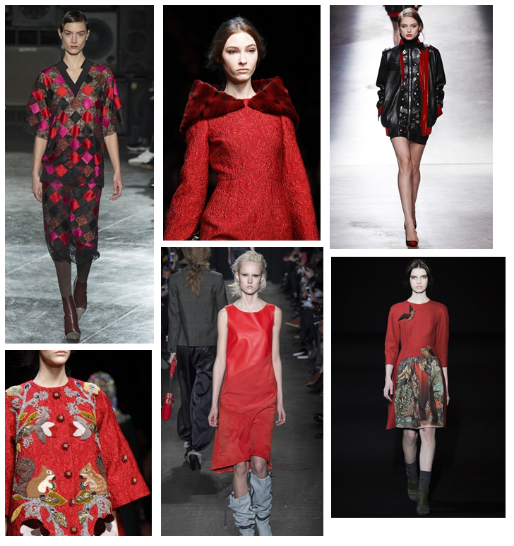 #AW14 #red #catwalk #trends #fashion #style #autumn #colour #designer #D&G #fblogger #blog