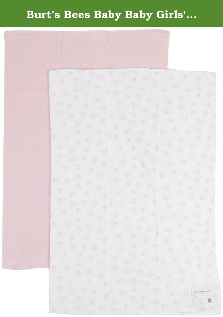9c405f078 Burt s Bees Baby Baby Girls  2 Pack Burp Cloths (Baby) - Blossom ...