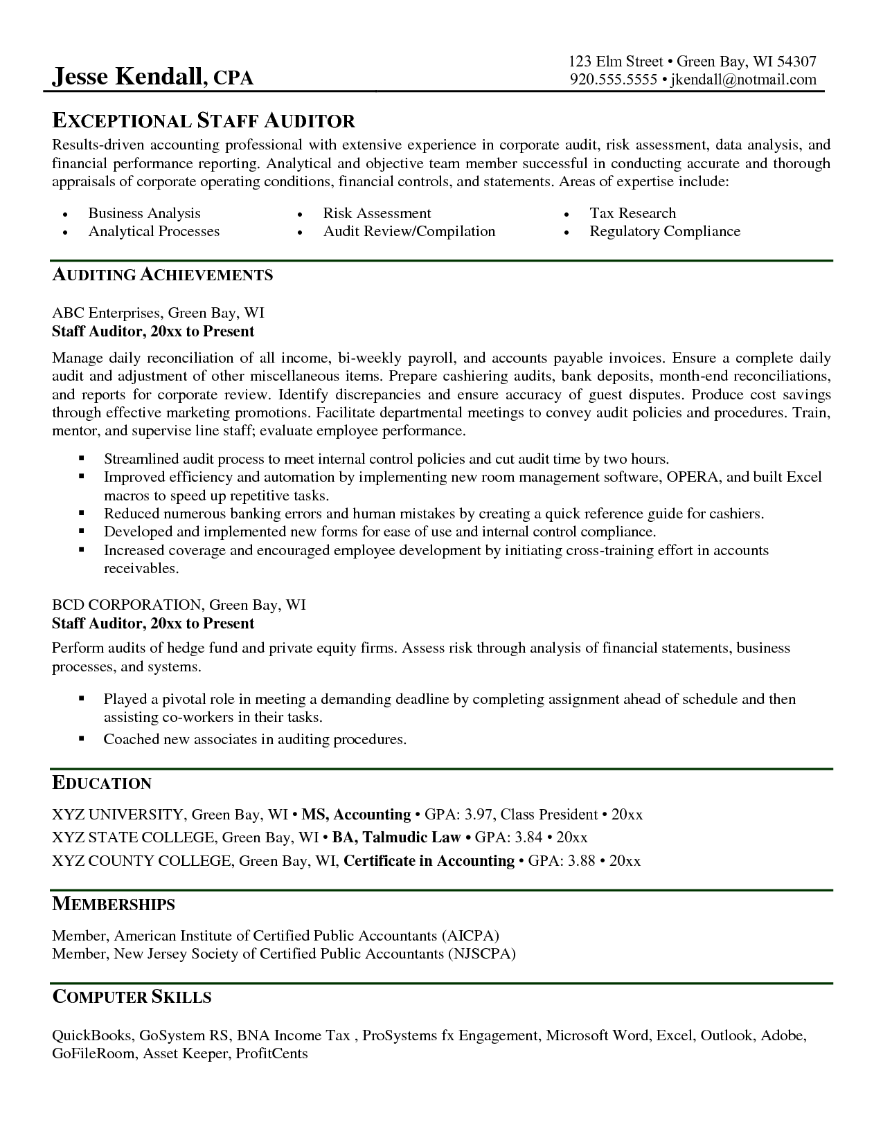 Auditor Resume Stay At Home Returning To Work Cover Letter2017 Applications