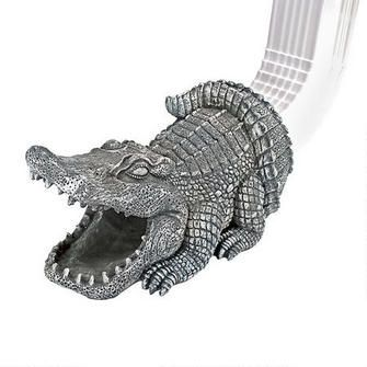 Swamp Alligator Gutter Guardian Downspout Statue Rain Gutters Downspout Gutter