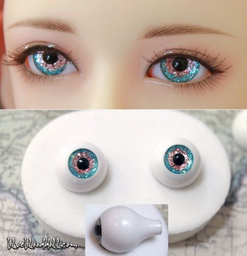 4 PAIR 10mm IRIS Oval Acrylic eyes for reborn baby doll BJD Sculpture Crafts.