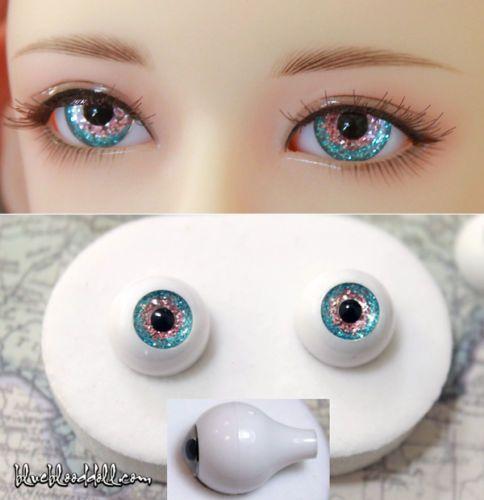 cb8b32a0aeb 16mm acrylic doll eyes two tone colors glitter full eyeball bjd #AE ...