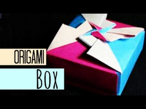 How To Make An Origami Box Youtube Origami Origami