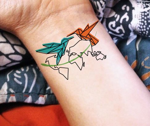 World map hummingbird color line small love travel wanderlust tattoo world map hummingbird color line small love travel wanderlust tattoo gumiabroncs Choice Image
