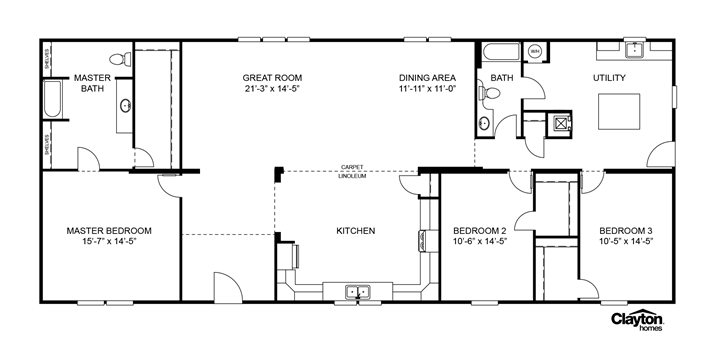 Clayton Homes Home Floor Plan Manufactured Homes Modular Homes Mobile Home House Floor Plans Mobile Home Floor Plans Floor Plans
