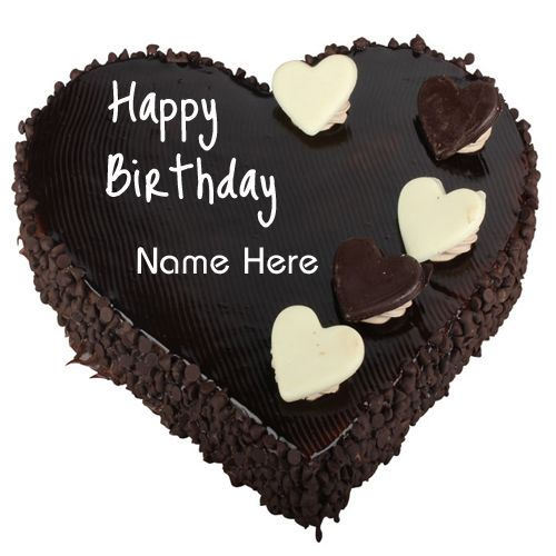 Birthday Wishes Cake Chocolate Heart Cake With Name Chocolate