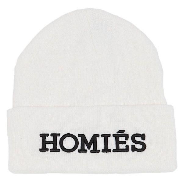 HOMIES BEANIE HAT BLACK WITH WHITE LOGO