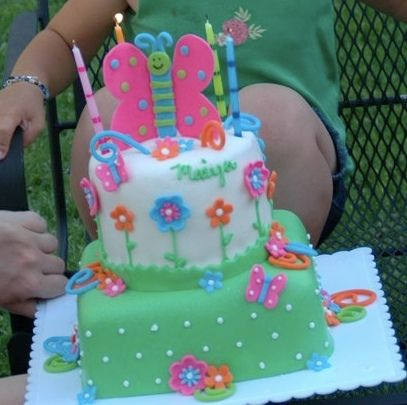 butterfly cake by via flickr tortas fiesta