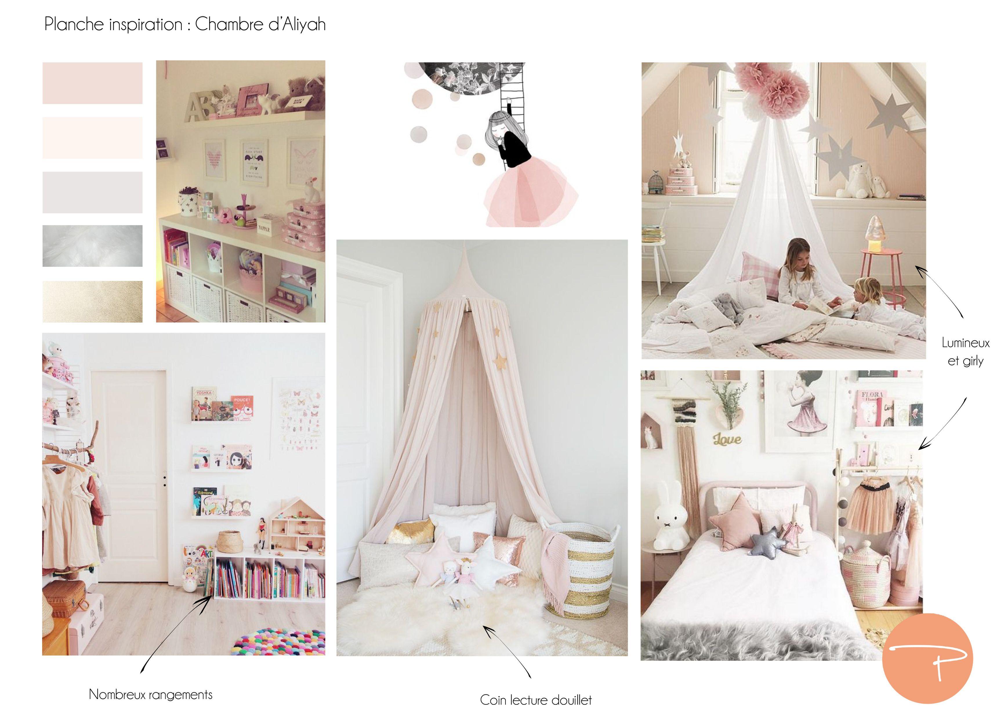 Chambre Petite Fille 3 Ans planche d'inspiration : une chambre douce et girly pour une