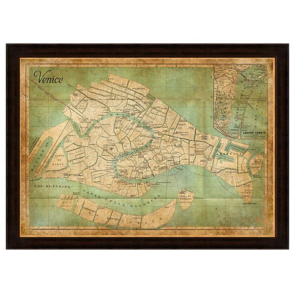 Heritage Venice Map Maps ($199) ❤ liked on Polyvore featuring home ...