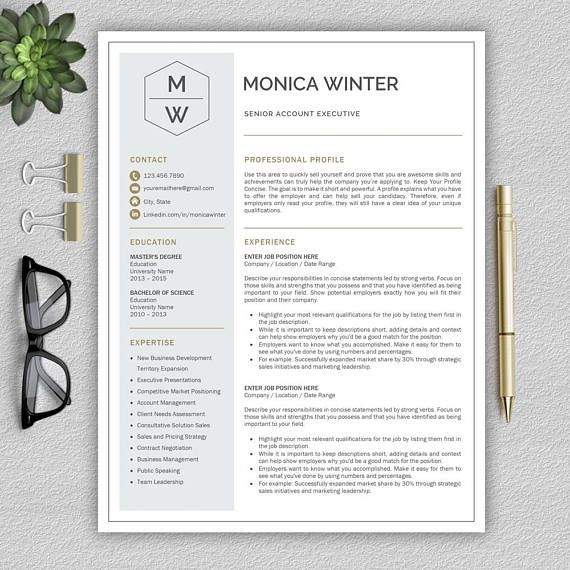 Professional And Modern Resume Template For Word Creative  Work