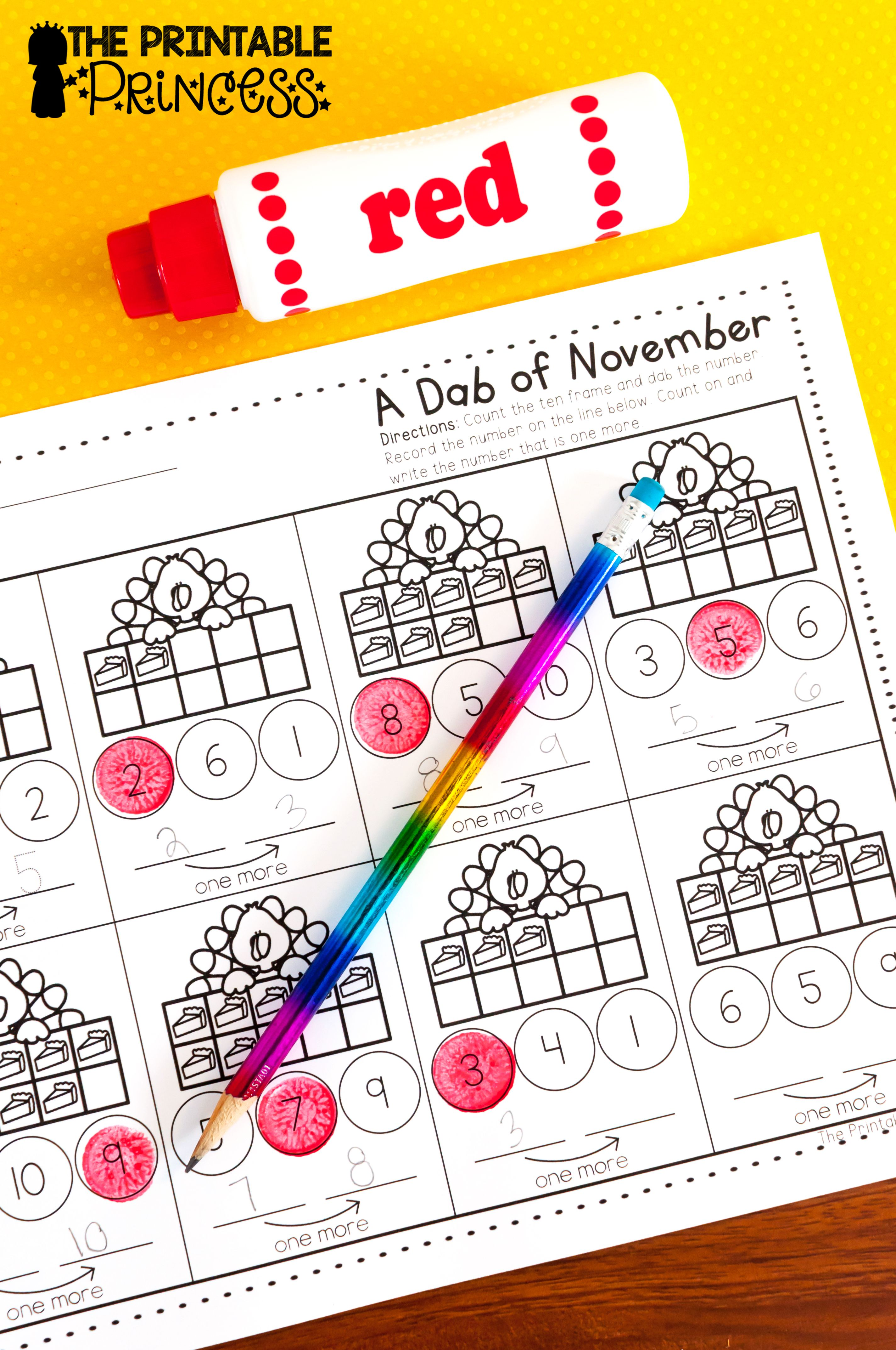 November No Prep Pages Literacy And Math Activities For Kindergarten