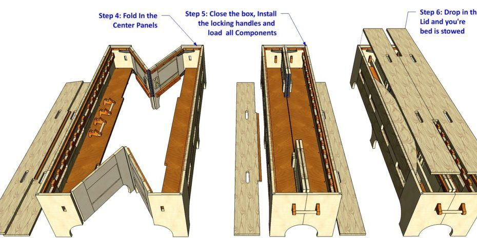 148 Double Folding Bed V2 Woodworking Plans Tv Bed Woodworking Plans Woodworking Plans Tv Stand