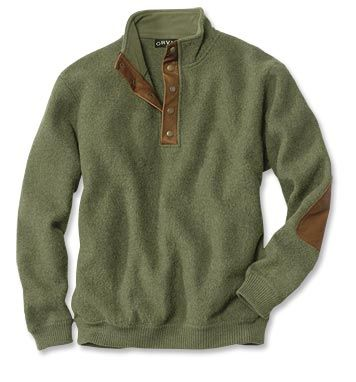 Orvis boiled wool snap front pullover | fashion | Pinterest ...