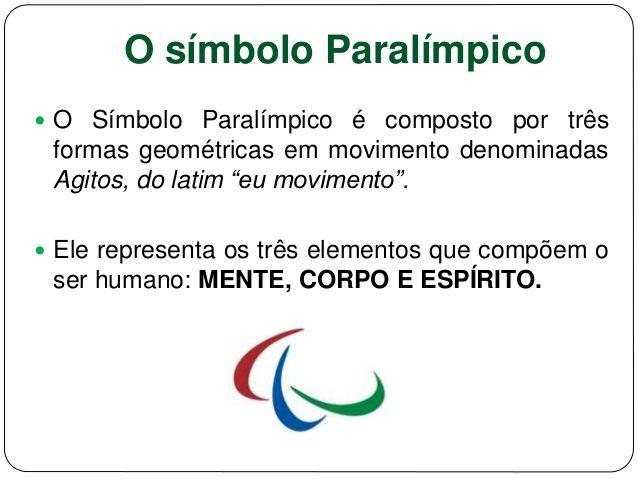 Resultado de imagem para símbolos paralimpicos