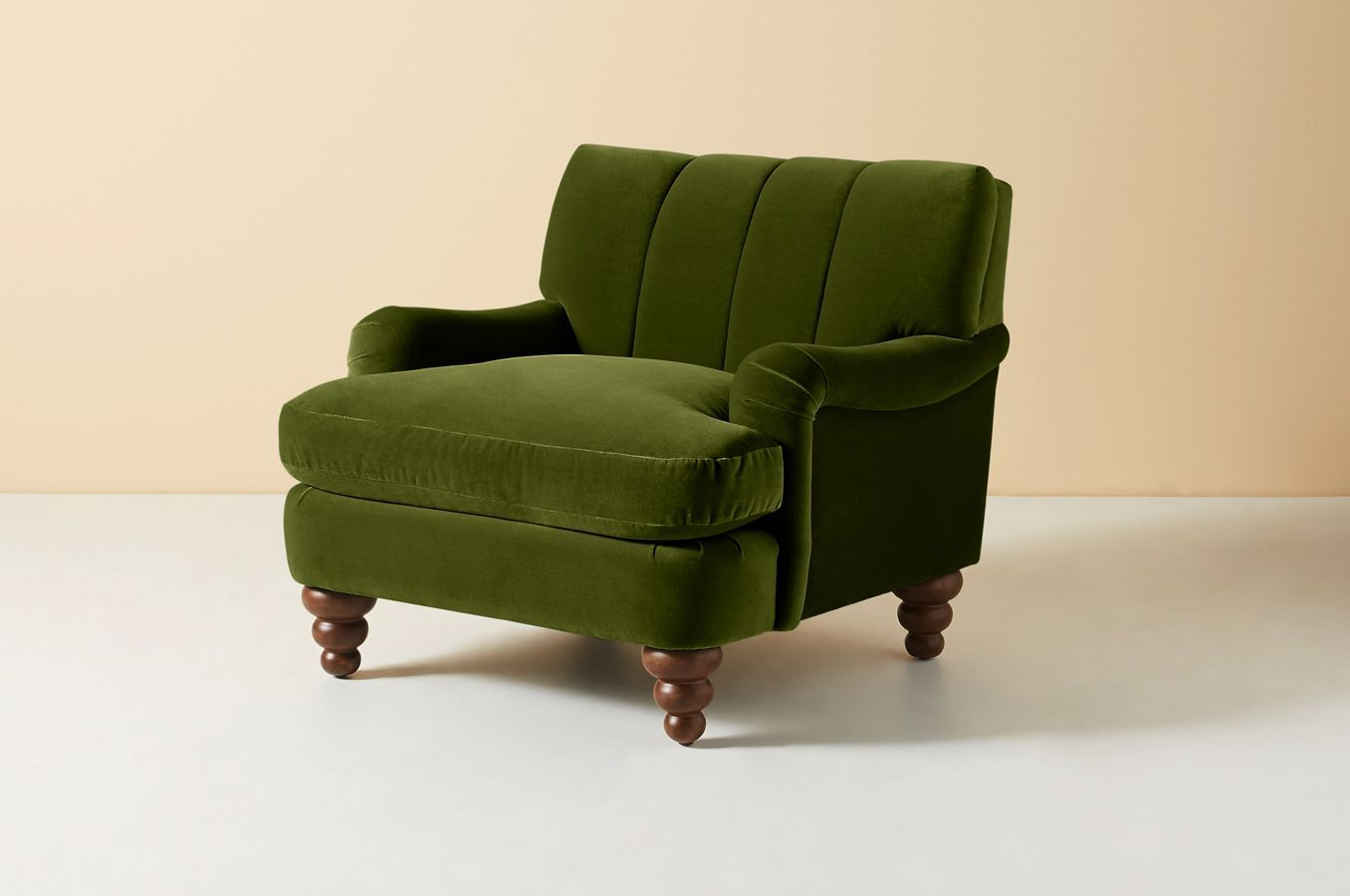 Channel Tufted Occasional Chair In 2020 Occasional Chairs Velvet Occasional Chair Green Velvet Chair #occasional #chair #living #room