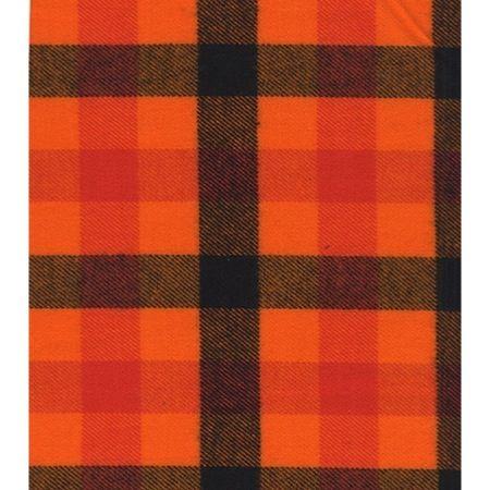 Marcus Fabric Primo Plaid Halloween Large Plaid Black Orange