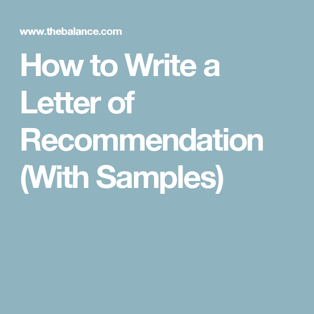 tips for writing letters of recommendation for employment