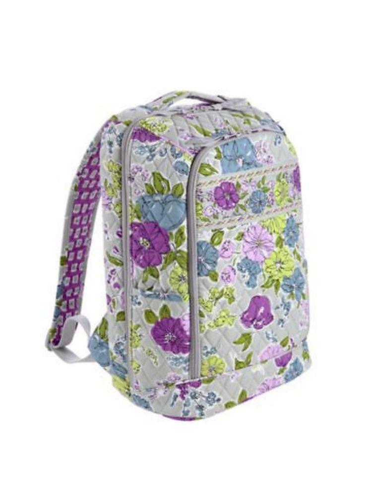 New Vera Bradley Large Laptop Backpack Watercolor Bag  b0ed6183f12bb
