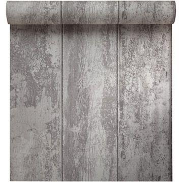 papier peint vinyle expans sur papier monrovilla taupe. Black Bedroom Furniture Sets. Home Design Ideas