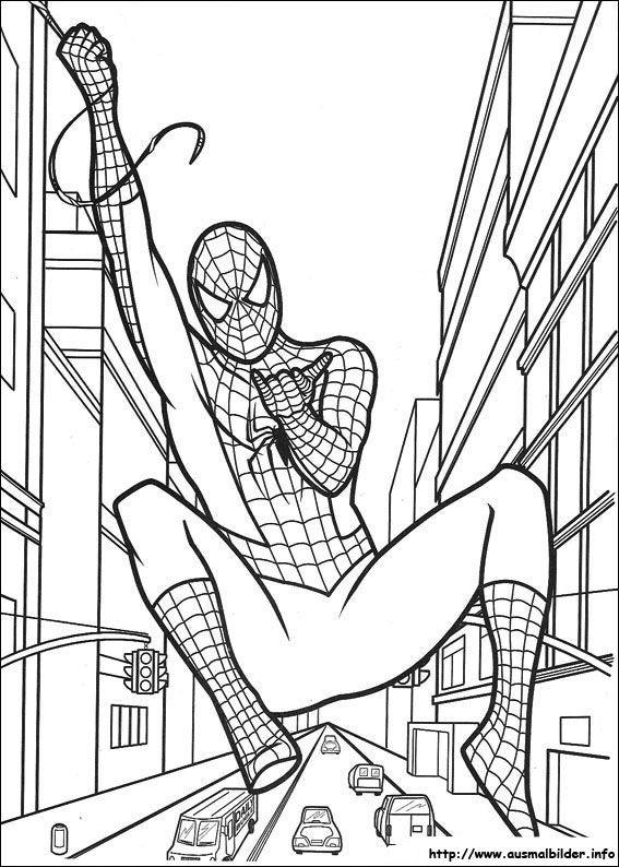Ausmalbilder Spiderman 1 35 Malvorlage Spiderman Ausmalbilder