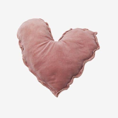 Swiss Sense Kussen.Vtwonen Kussen Hart Fluweel O50 Cm Roze Pink Moon Sleep Well