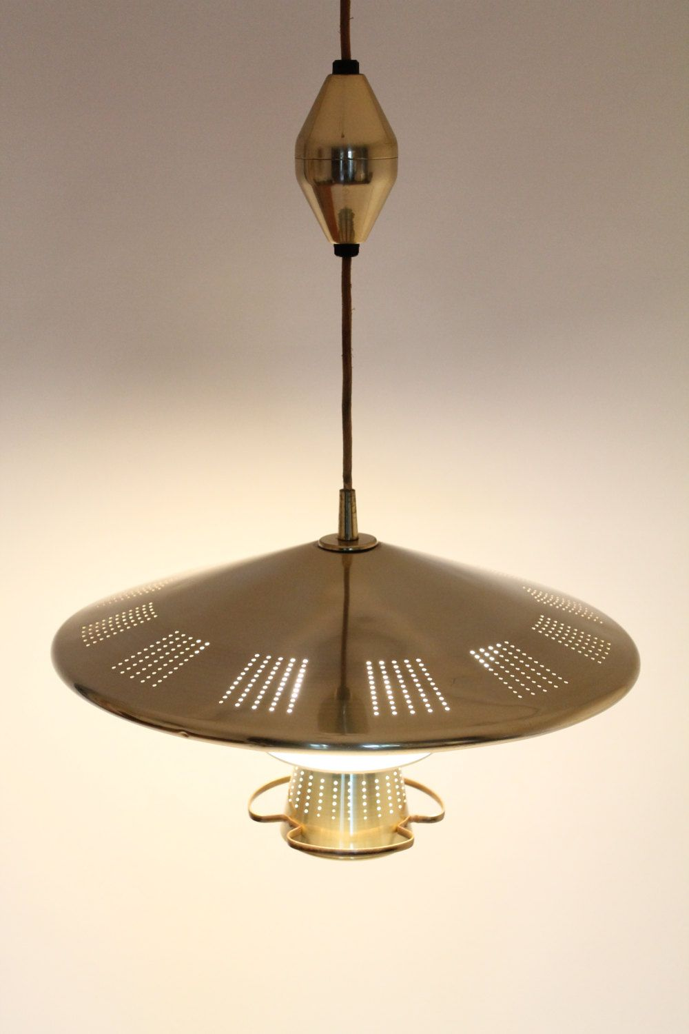 21 Inches Brass Plated Saucer Pull Down Chandelier 4 Lights Retractable From Im Pendant Light Fixtures Mid Century Modern Lighting Pendant Candle Pendant Light