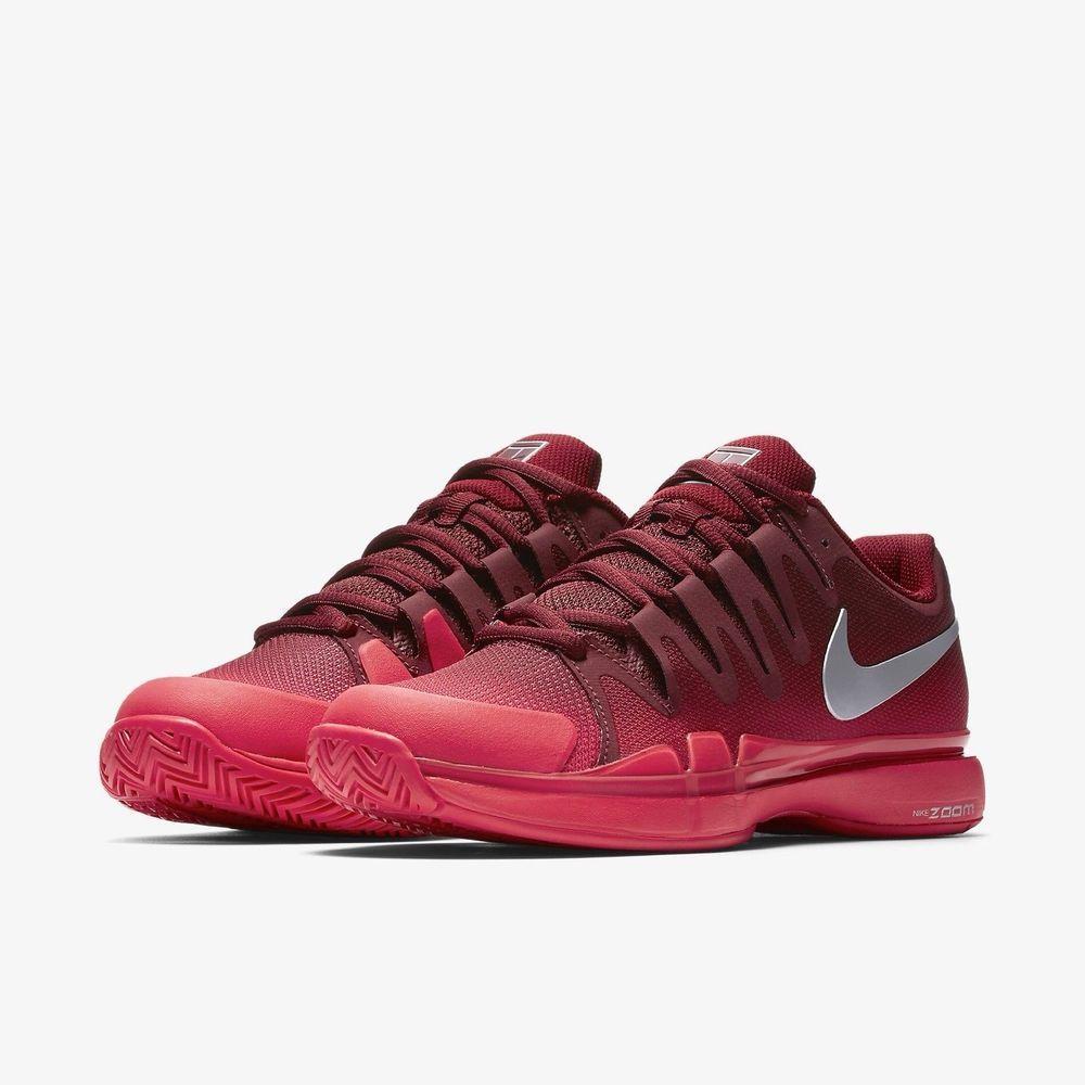Nike Air Zoom Vapor 9 5 Tennis Shoes Womens 8 5 Team Red Silver 631475 602 Nike Tennisshoes Nike Shoes Women Womens Athletic Shoes Nike