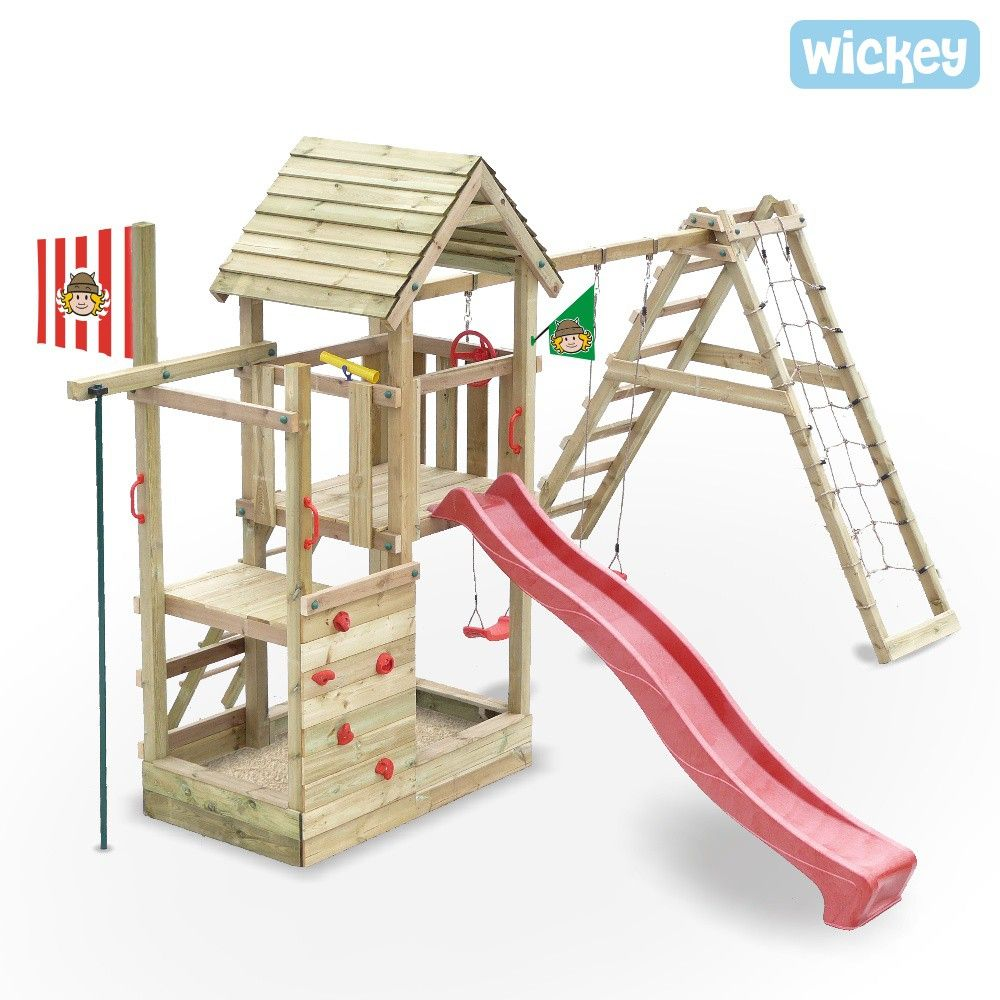 Wooden Climbing Frame Wickey Fire Station Cheapest Prices And Rapid Delivery From Wickey Co Wooden Climbing Frame Kids Backyard Playground Kids Climbing Frame