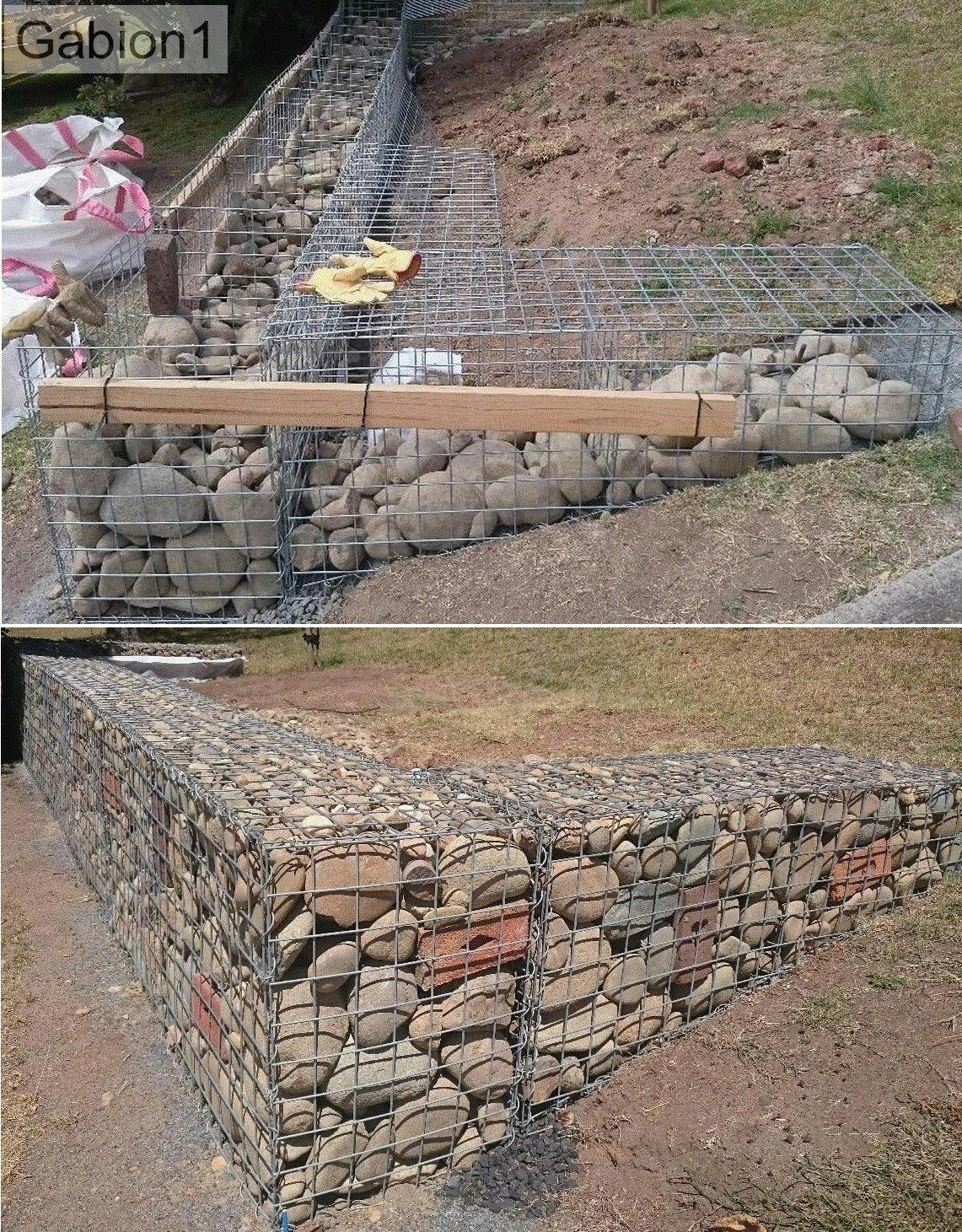 gaviones decorativos mil anuncios com para piedras 134526673 3 gabion built with temporary timber supports http:--www.gabion1.com.