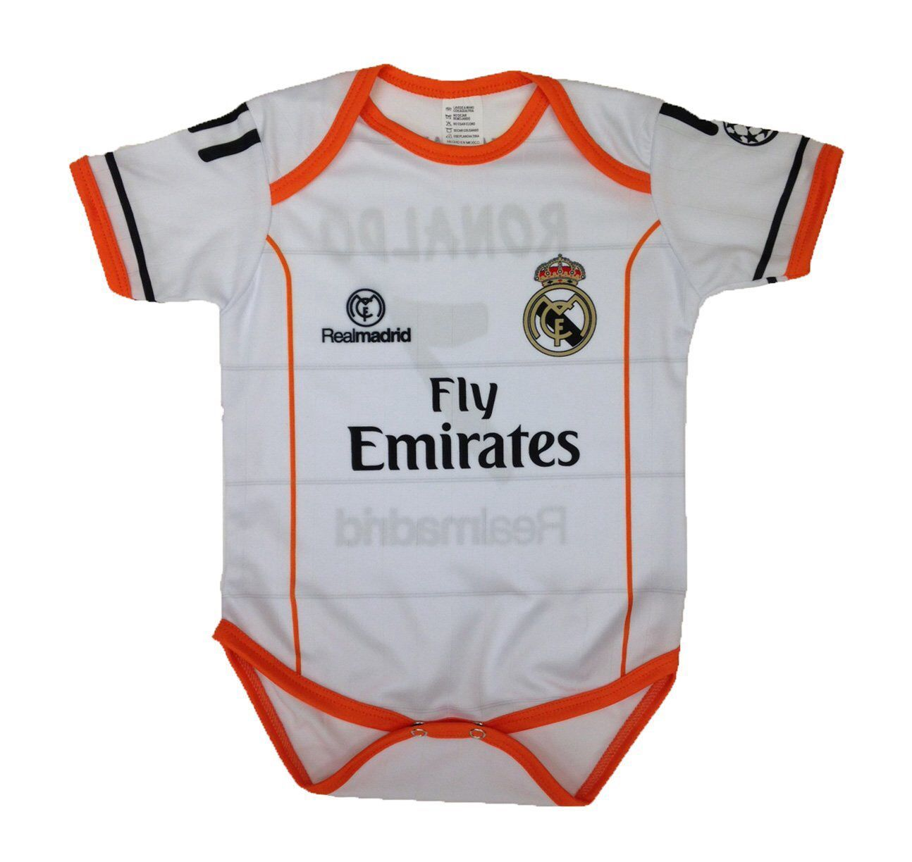 42ee21e46 Just bought this Real Madrid onesie for friends who recently had a baby.  Oh, how wonderful to be born during La Decima