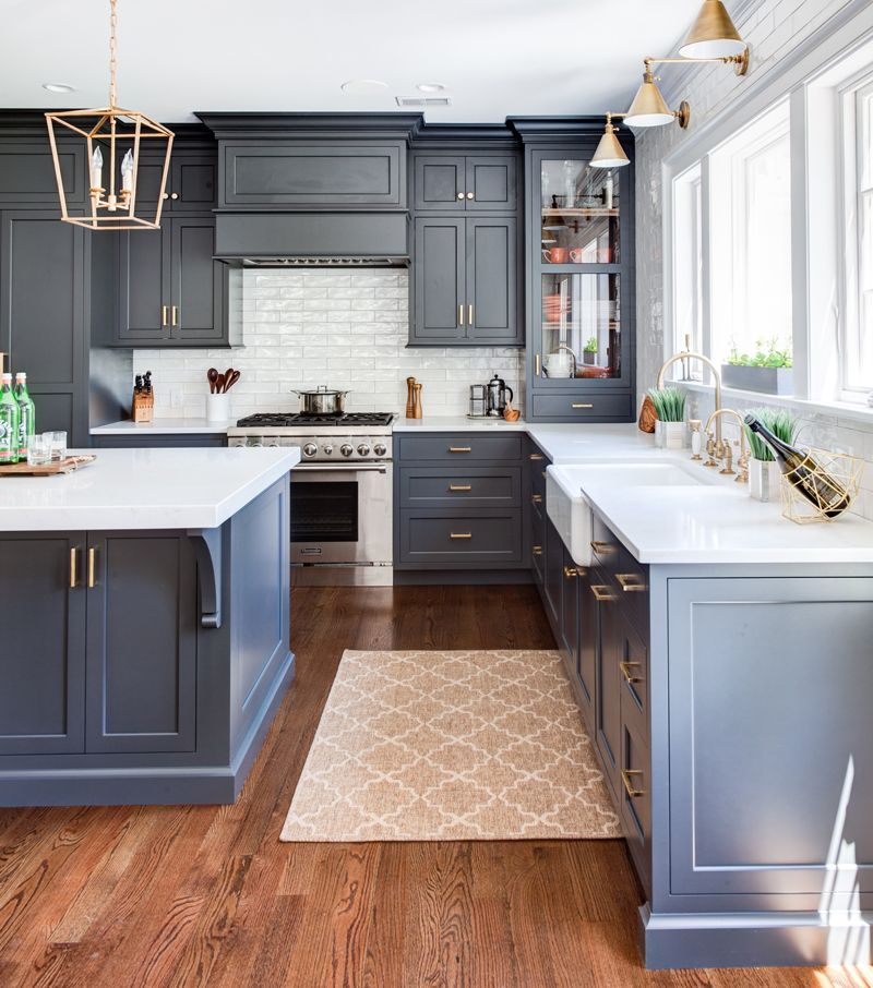 Navy Colored Cabinets Are Like Dark Denim Jeans