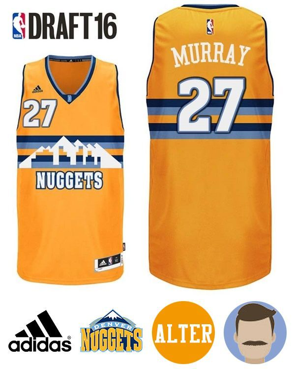 ... edition navy swingman jersey d9993 53a90  clearance keep your equipment  fresh with this mens 2016 draft nuggets 27 jamal murray alternate gold 093ce3f45