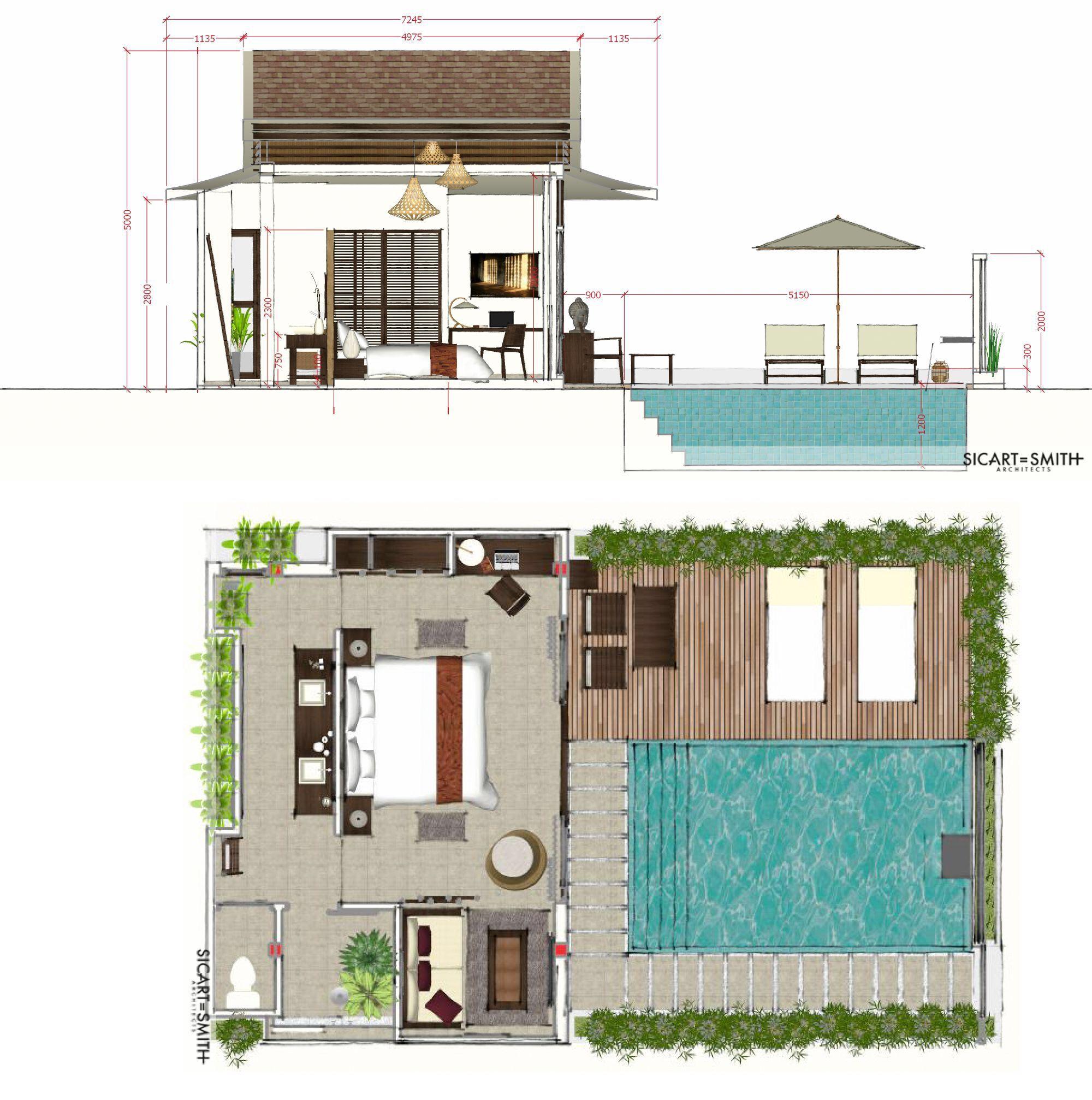 Khwan Samui Beach Resort Sicart Smith Architects Boutique Design Firm Arsitektur Denah Rumah Rumah
