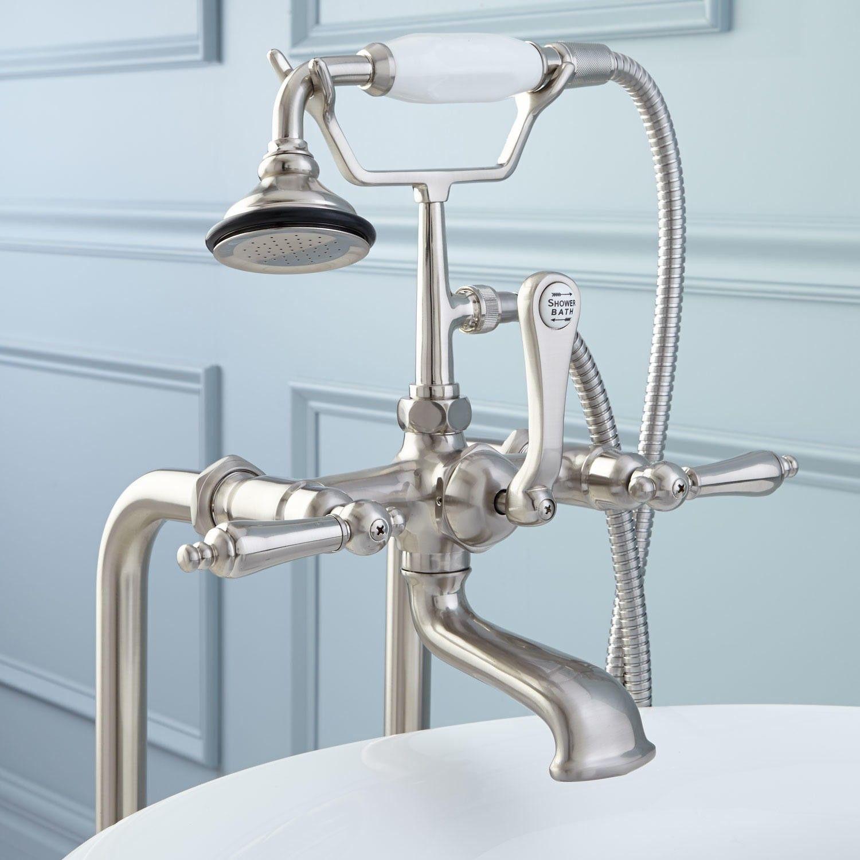 Freestanding Telephone Tub Faucet Supplies Valves Lever
