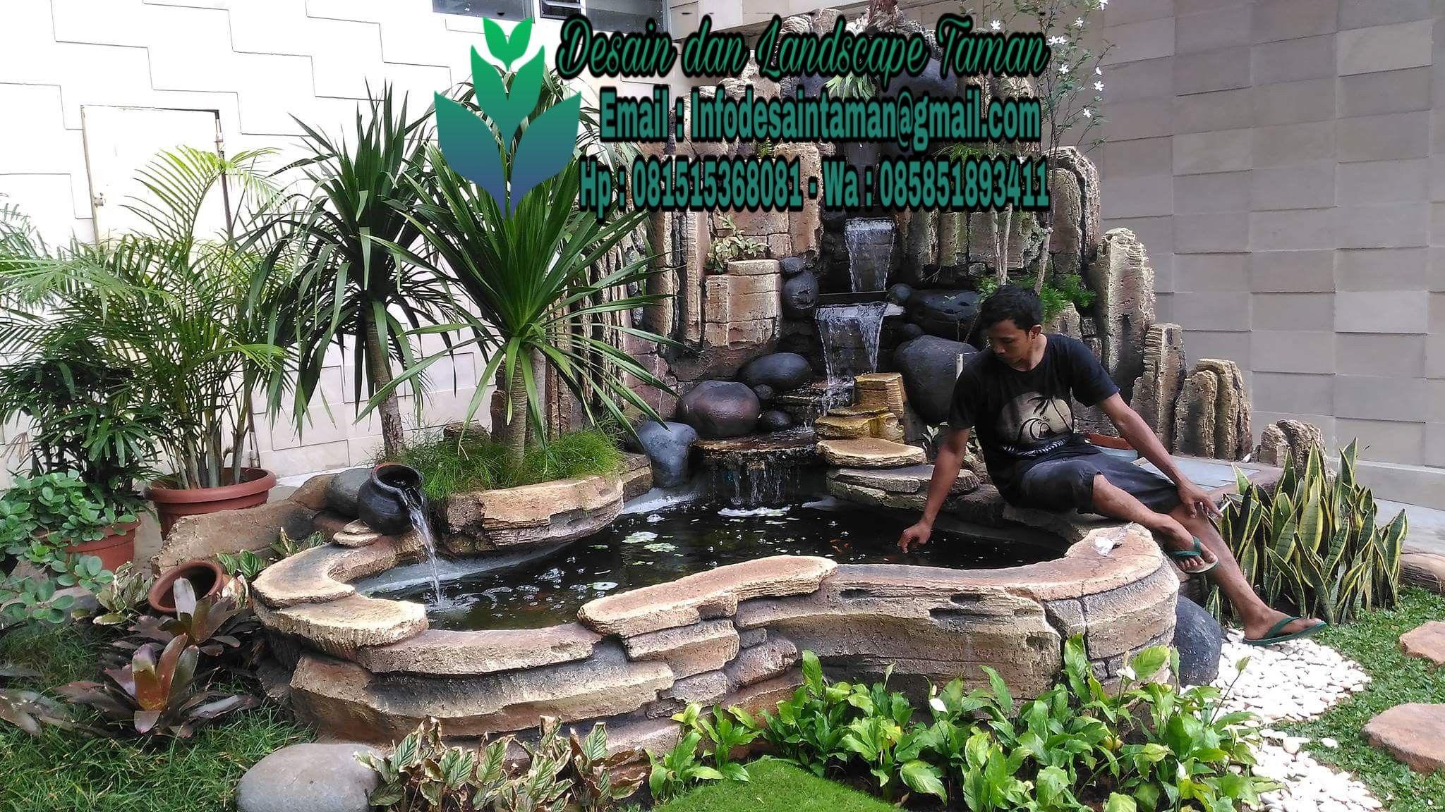 Tukang Relief Tebing Kolam Ikan Air Mancur Di Sidoarjo Dan Surabaya Kolam Ikan Kolam Kolam Ikan Koi