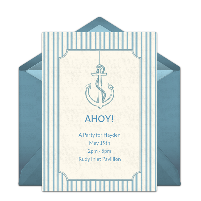 Customizable Free Nautical Online Invitations Easy To Personalize And Send For A Party Punchbowl