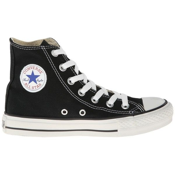 Converse Chuck Taylor All Star Core Hi (Classic Black) Classic Shoes ($55)  ❤ liked on Polyvore featuring shoes, sneakers, converse, men, sapatos, b…
