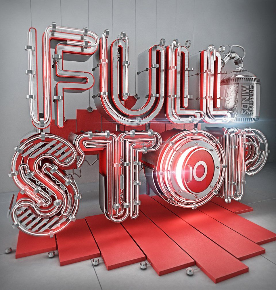 Futuristic 3D Typography by Mohamed Reda #3dtypography