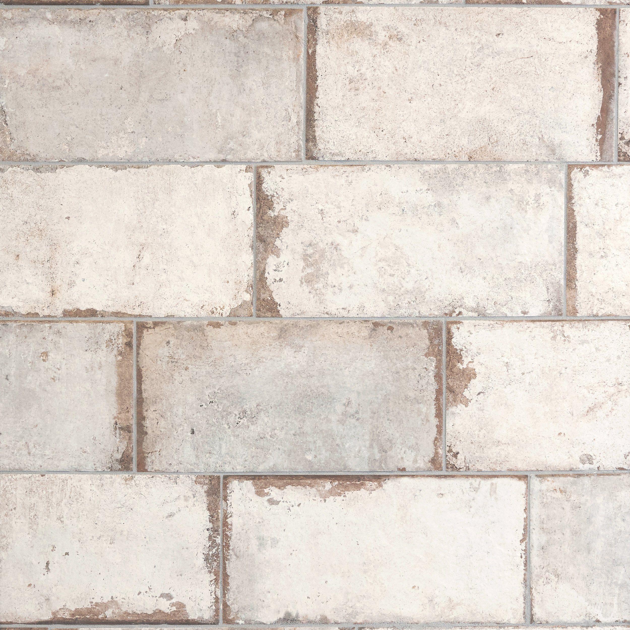 San Juan Blanco Porcelain Tile Brick Look Tile Brick Tile Floor Brick Paneling
