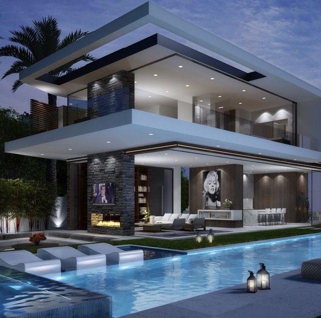 Moderne Häuser, Häuser Mit Pool, Luxus, Flachdach, Die Schönsten Bilder,  Haus Design, Ausblick, Lebensstil, Rund Ums Haus