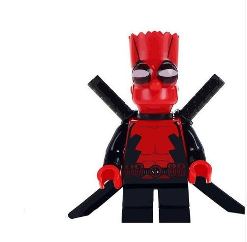 The Simpson/'s Custom Mini Figures Bart As Deadpool