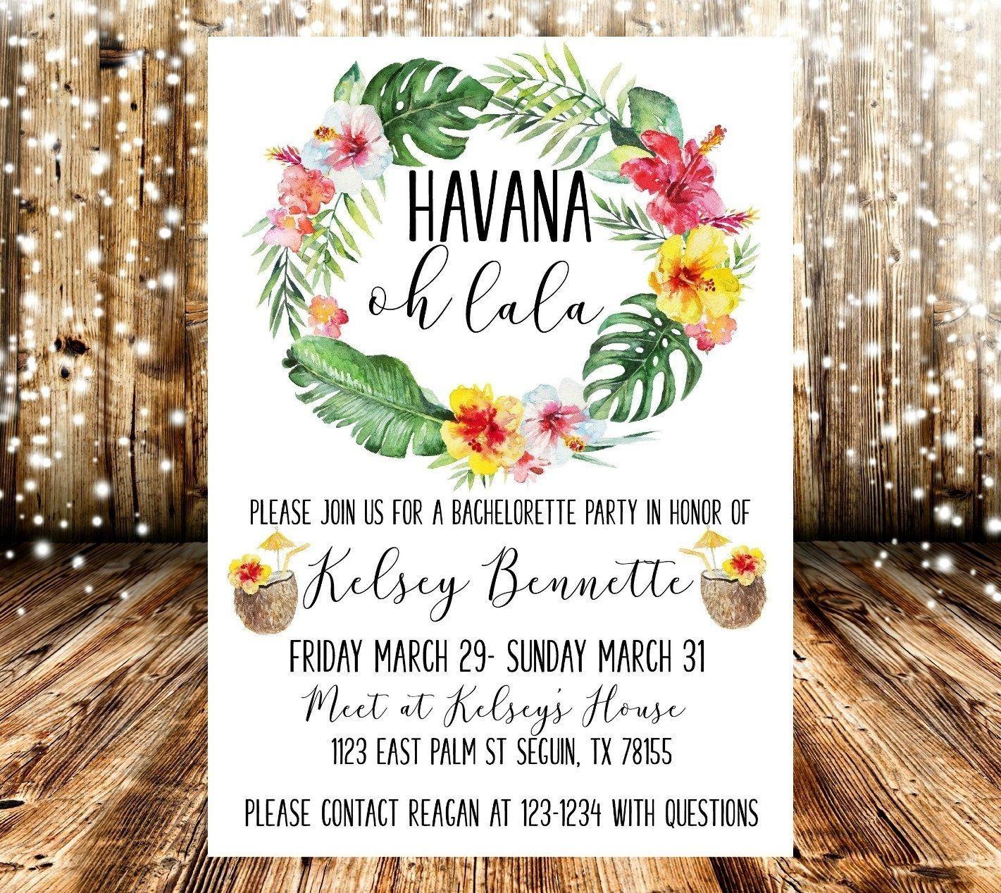 Havana Nights Party Invitation Template di 3